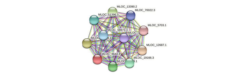 MLOC_4644.1 protein (Hordeum vulgare) - STRING interaction network