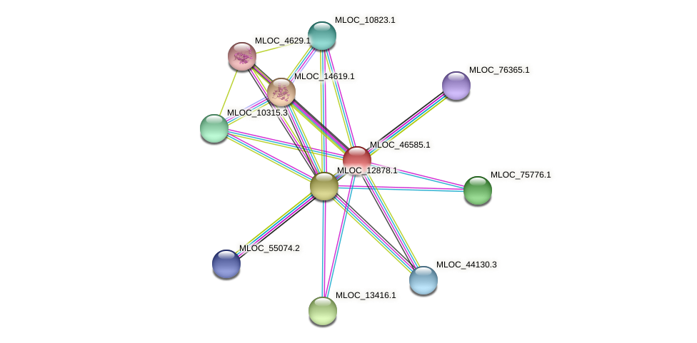 MLOC_46585.1 protein (Hordeum vulgare) - STRING interaction network