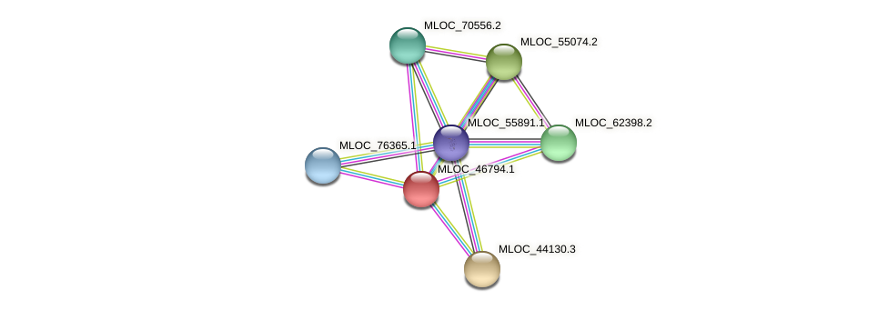 MLOC_46794.1 protein (Hordeum vulgare) - STRING interaction network