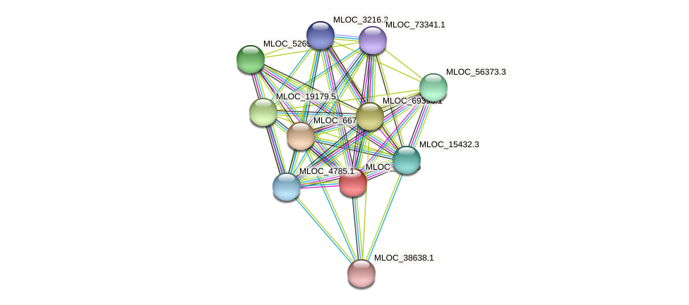 MLOC_4685.6 protein (Hordeum vulgare) - STRING interaction network