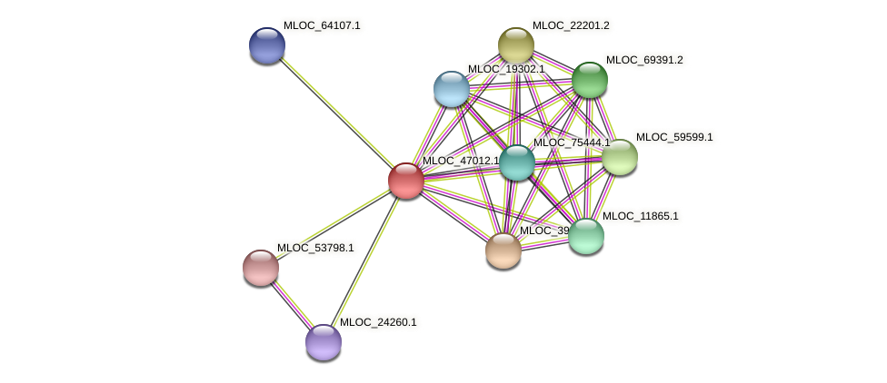MLOC_47012.1 protein (Hordeum vulgare) - STRING interaction network