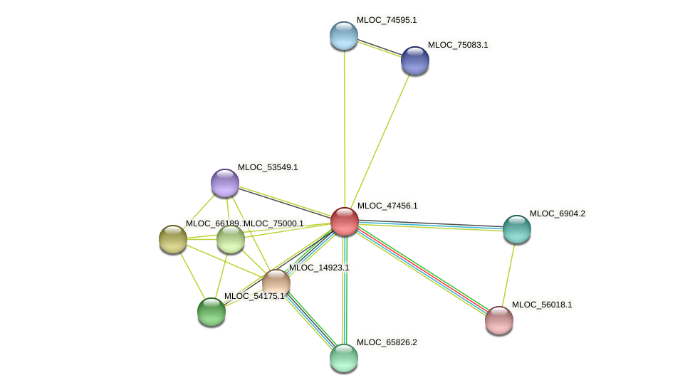 MLOC_47456.1 protein (Hordeum vulgare) - STRING interaction network