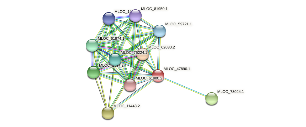 MLOC_47890.1 protein (Hordeum vulgare) - STRING interaction network