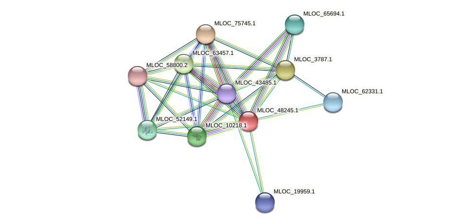MLOC_48245.1 protein (Hordeum vulgare) - STRING interaction network