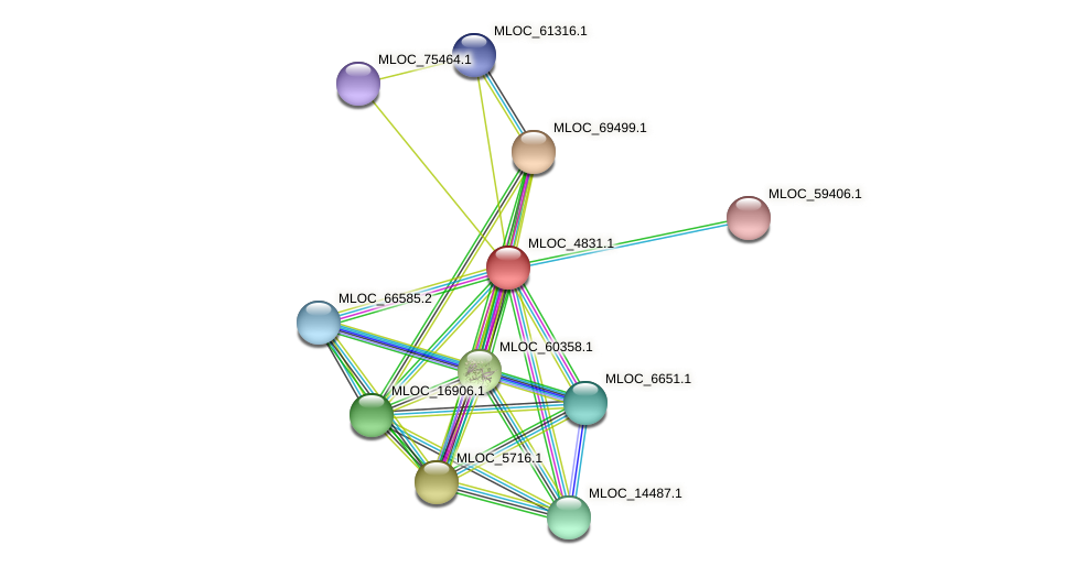 MLOC_4831.1 protein (Hordeum vulgare) - STRING interaction network