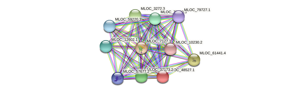 MLOC_48527.1 protein (Hordeum vulgare) - STRING interaction network