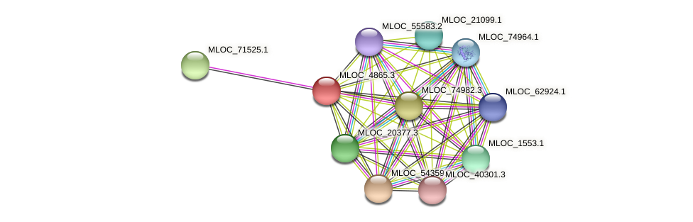 MLOC_4865.3 protein (Hordeum vulgare) - STRING interaction network