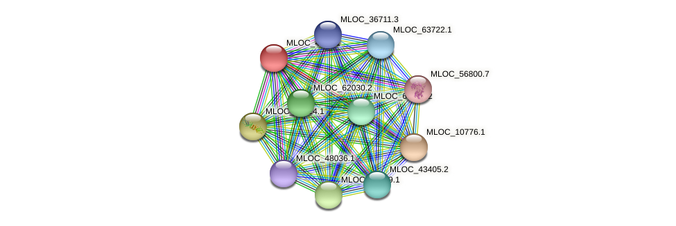 MLOC_4869.1 protein (Hordeum vulgare) - STRING interaction network
