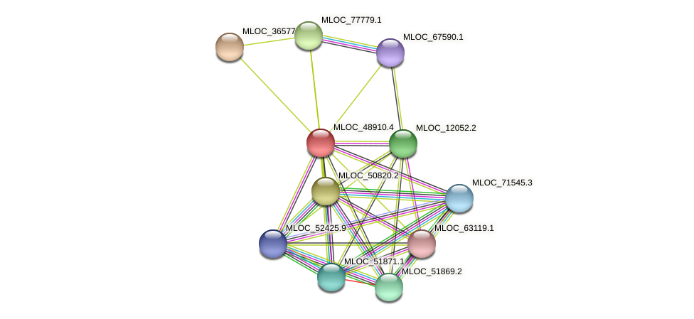 MLOC_48910.4 protein (Hordeum vulgare) - STRING interaction network