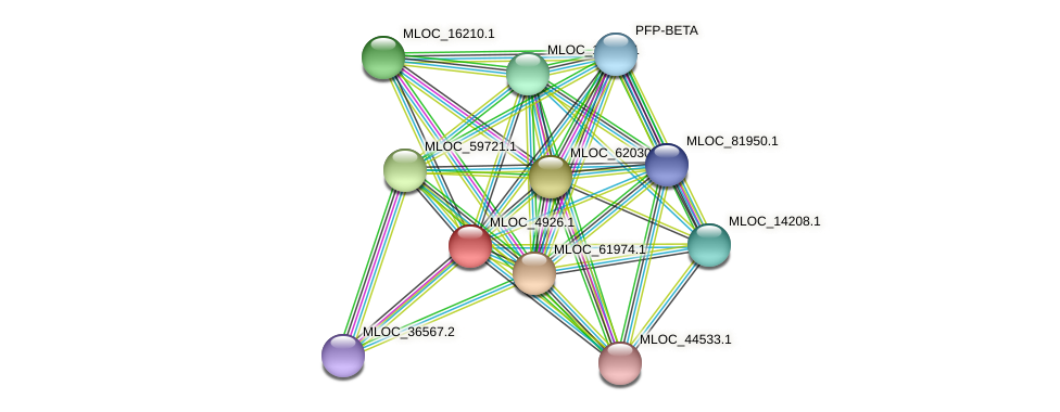 MLOC_4926.1 protein (Hordeum vulgare) - STRING interaction network