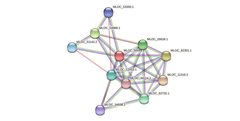 MLOC_50069.1 protein (Hordeum vulgare) - STRING interaction network