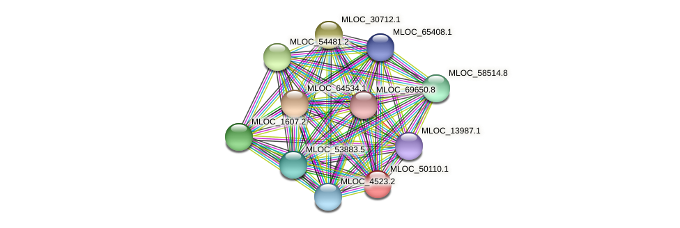 MLOC_50110.1 protein (Hordeum vulgare) - STRING interaction network