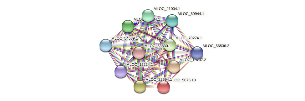 MLOC_5075.10 protein (Hordeum vulgare) - STRING interaction network