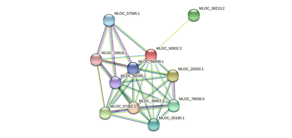 MLOC_50932.2 protein (Hordeum vulgare) - STRING interaction network