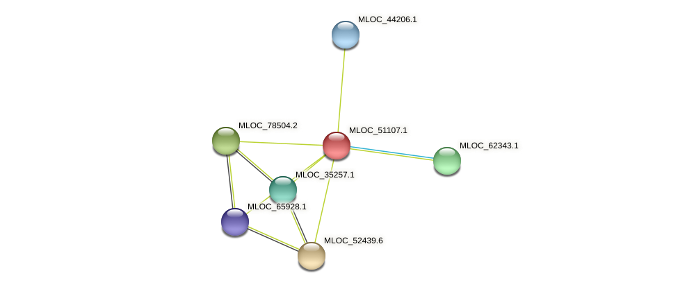 MLOC_51107.1 protein (Hordeum vulgare) - STRING interaction network