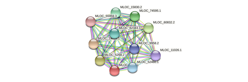 MLOC_5113.1 protein (Hordeum vulgare) - STRING interaction network