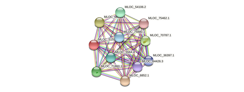 MLOC_51550.1 protein (Hordeum vulgare) - STRING interaction network