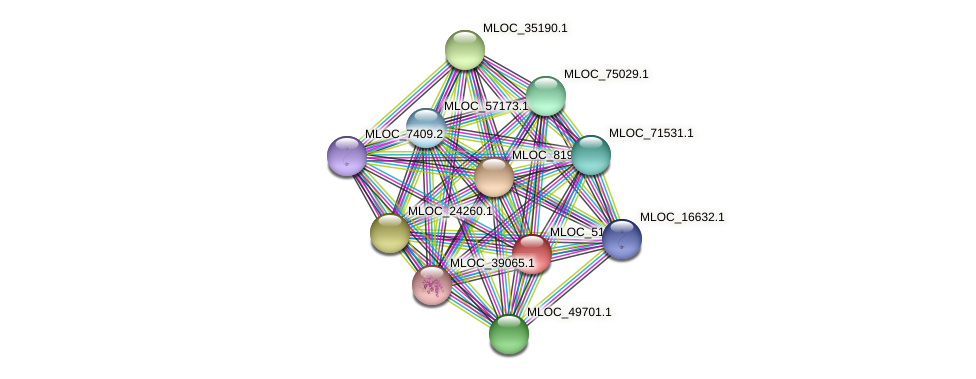 MLOC_51712.1 protein (Hordeum vulgare) - STRING interaction network