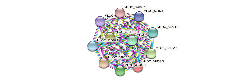 MLOC_51833.3 protein (Hordeum vulgare) - STRING interaction network