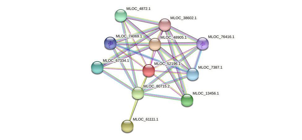 MLOC_52196.1 protein (Hordeum vulgare) - STRING interaction network