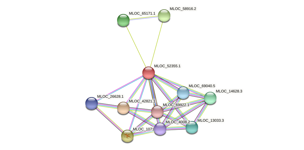 MLOC_52355.1 protein (Hordeum vulgare) - STRING interaction network