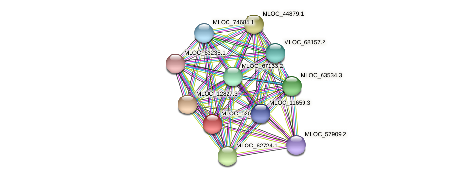 MLOC_52678.1 protein (Hordeum vulgare) - STRING interaction network