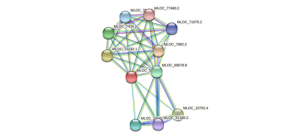 MLOC_53088.1 protein (Hordeum vulgare) - STRING interaction network