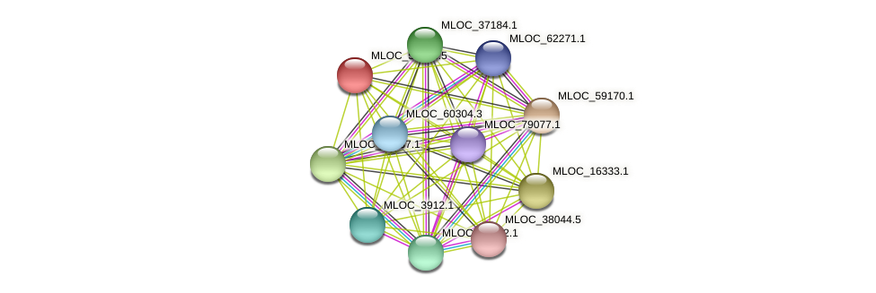 MLOC_53193.5 protein (Hordeum vulgare) - STRING interaction network