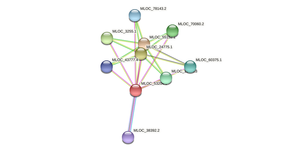 MLOC_53204.1 protein (Hordeum vulgare) - STRING interaction network
