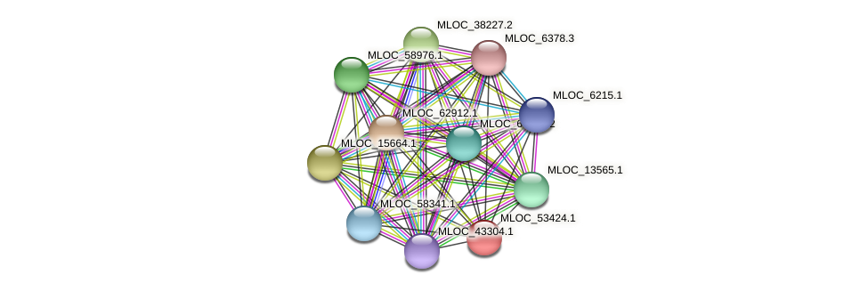MLOC_53424.1 protein (Hordeum vulgare) - STRING interaction network