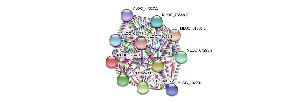 MLOC_5347.1 protein (Hordeum vulgare) - STRING interaction network