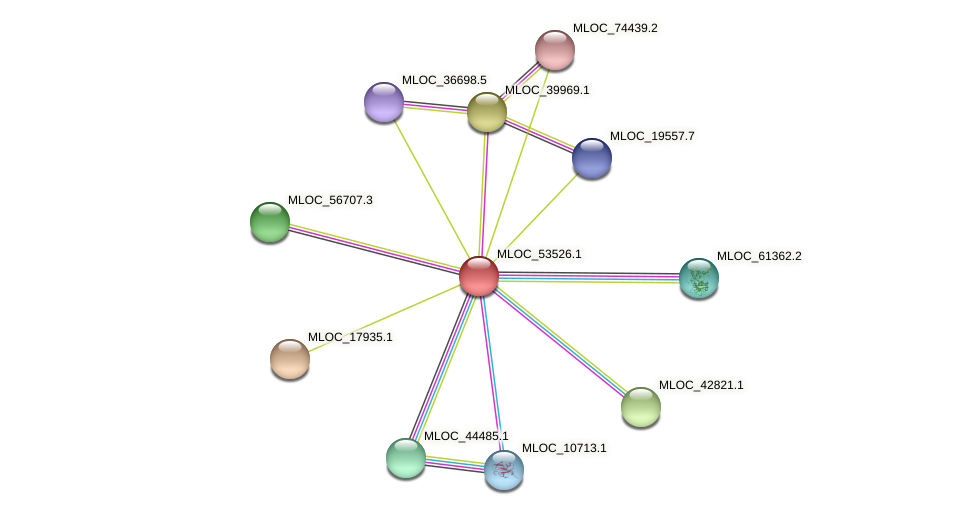 MLOC_53526.1 protein (Hordeum vulgare) - STRING interaction network