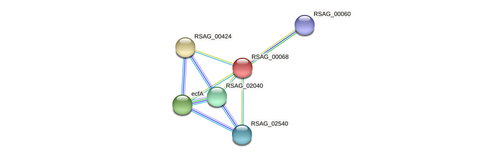 RSAG_00068 protein (Ruminococcus sp. 5139BFAA) - STRING interaction network