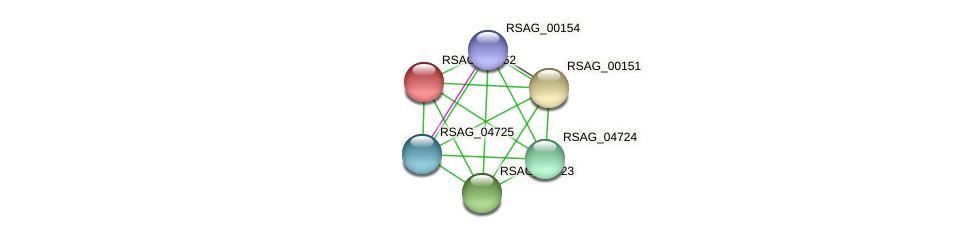 RSAG_00152 protein (Ruminococcus sp. 5139BFAA) - STRING interaction network