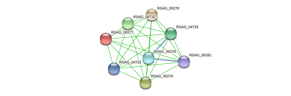 RSAG_00277 protein (Ruminococcus sp. 5139BFAA) - STRING interaction network