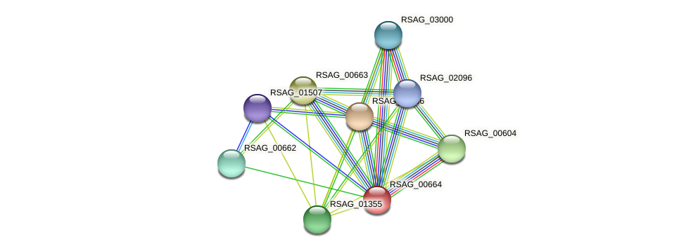 RSAG_00664 protein (Ruminococcus sp. 5139BFAA) - STRING interaction network
