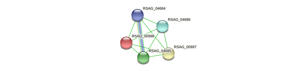 RSAG_00998 protein (Ruminococcus sp. 5139BFAA) - STRING interaction network