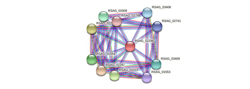 RSAG_02296 protein (Ruminococcus sp. 5139BFAA) - STRING interaction network
