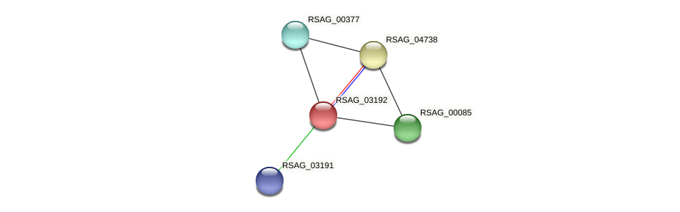 RSAG_03192 protein (Ruminococcus sp. 5139BFAA) - STRING interaction network