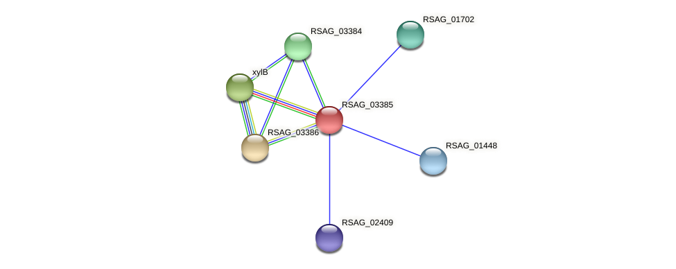 RSAG_03385 protein (Ruminococcus sp. 5139BFAA) - STRING interaction network