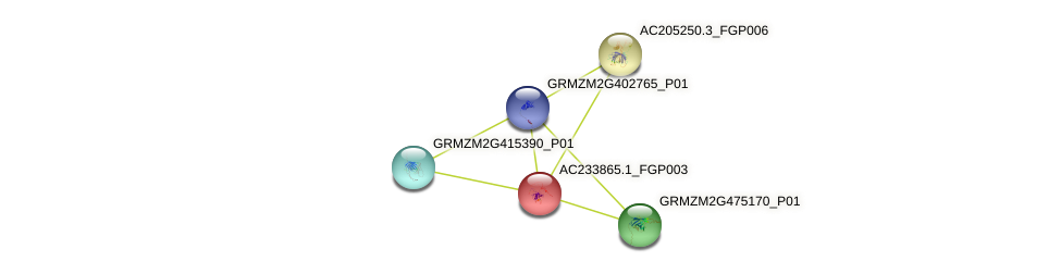 nac121 protein (Zea mays) - STRING interaction network