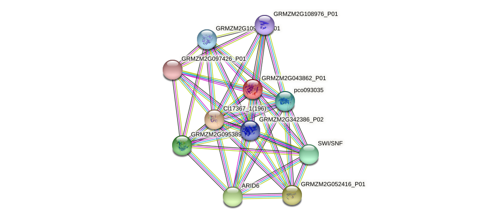 Zm.6841 protein (Zea mays) - STRING interaction network