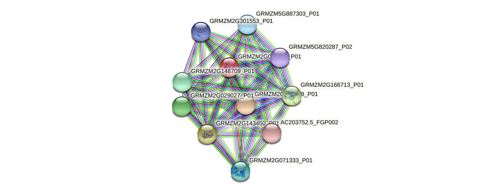 GRMZM2G046932_P01 protein (Zea mays) - STRING interaction network