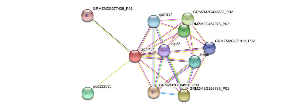 Zm.93727 protein (Zea mays) - STRING interaction network