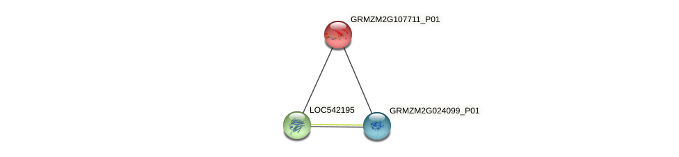 pco084743 protein (Zea mays) - STRING interaction network