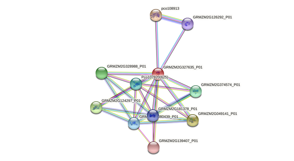 IDP1674 protein (Zea mays) - STRING interaction network