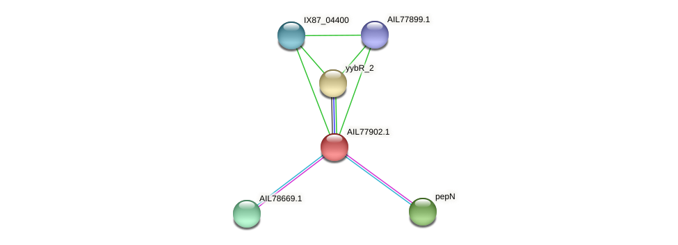 AIL77902.1 protein (Acinetobacter baumannii) - STRING interaction network