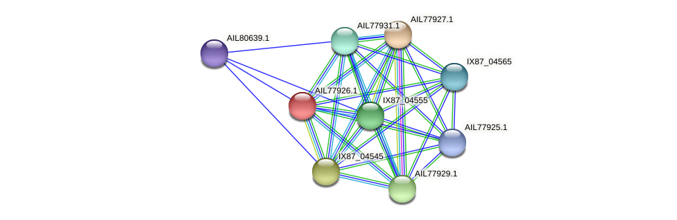 AIL77926.1 protein (Acinetobacter baumannii) - STRING interaction network