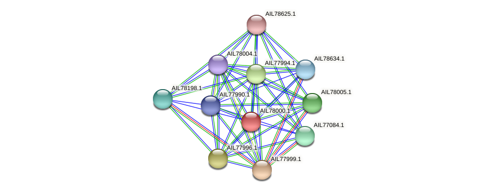 AIL78000.1 protein (Acinetobacter baumannii) - STRING interaction network