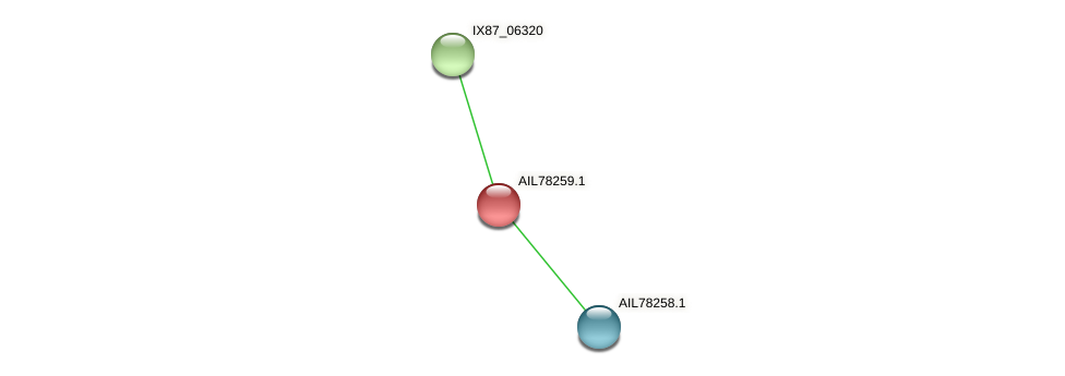 AIL78259.1 protein (Acinetobacter baumannii) - STRING interaction network